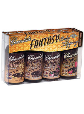 Pipedream Products Chocolate Fantasy Body Topping (4 Pack)