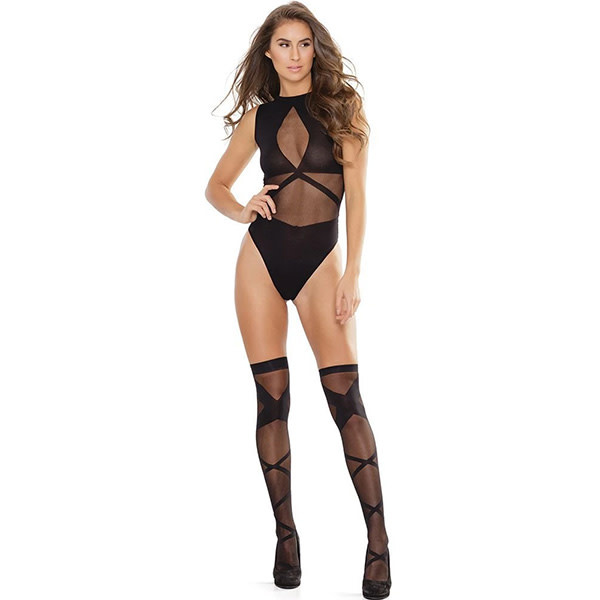 Coquette International Lingerie The Hold Teddy with Stockings