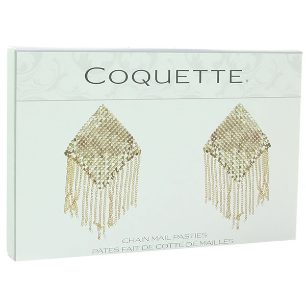 Coquette International Lingerie Chain Mail Nipple Pasties