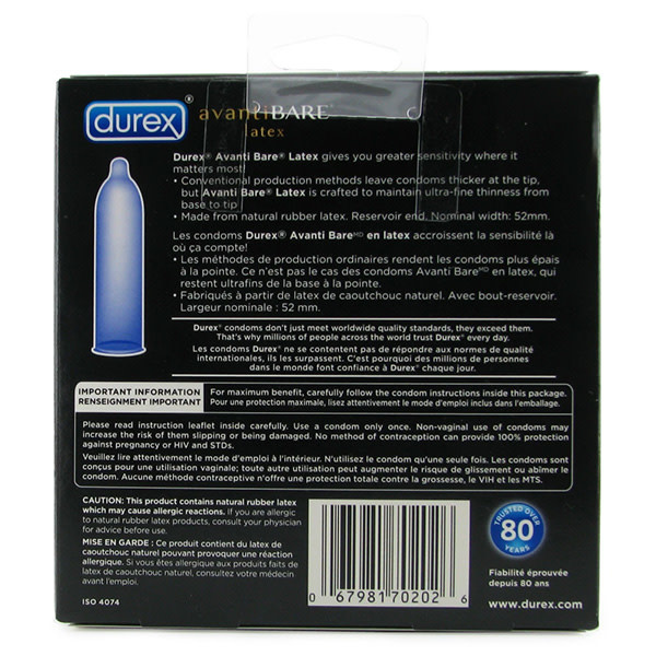 Durex Condoms Durex Avanti Bare Latex Condoms 24 Pack