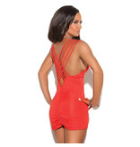 Elegant Moments Lingerie Red Delicious Criss-Cross Mini Dress