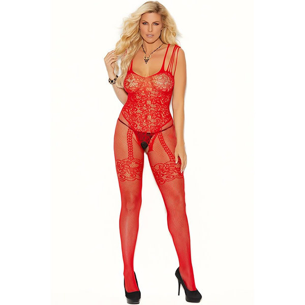 Elegant Moments Lingerie Right Said Red Bodystocking