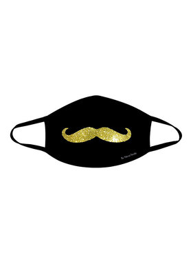 Neva Nude Mr. Mustachio Gold Glitter Face Mask