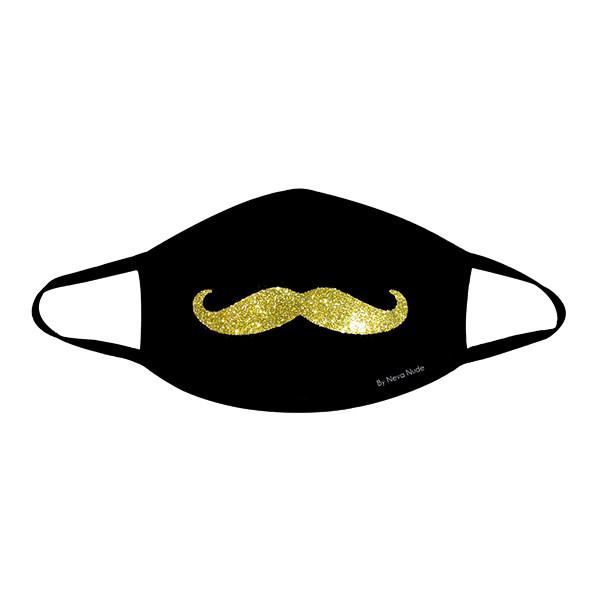 Neva Nude Mr. Mustachio Gold Glitter Face Mask