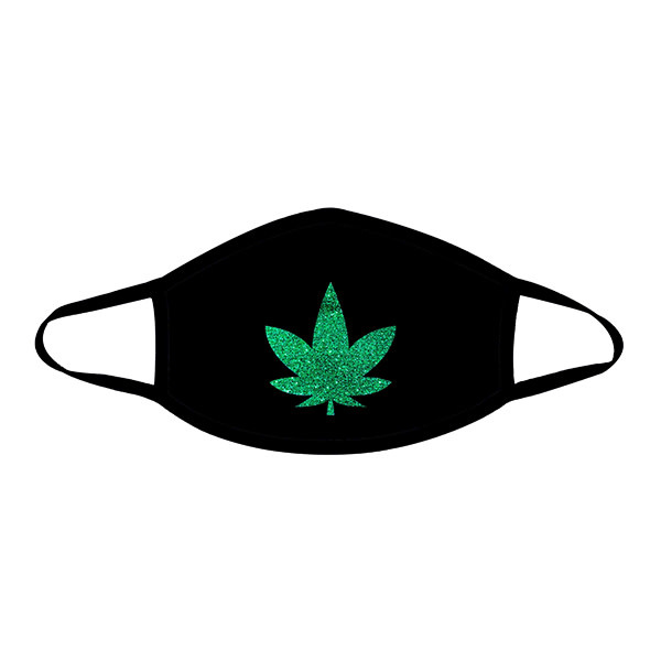Neva Nude Dope AF Green Glitter Weed Leaf Face Mask