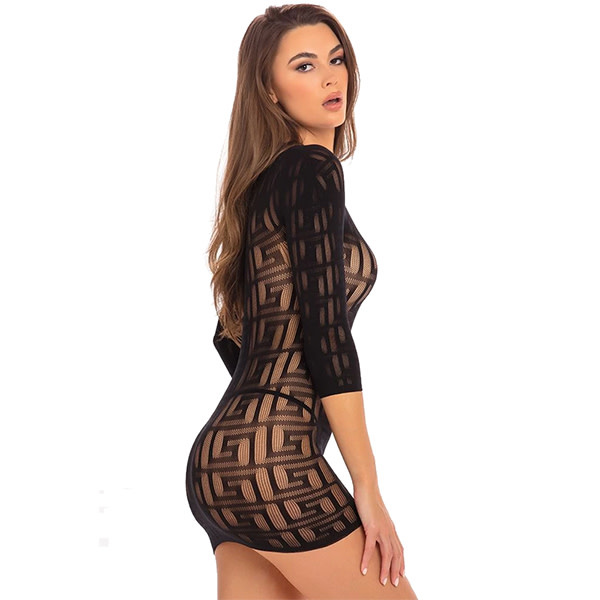 Rene Rofe Lingerie Exotic Geometry Mini Dress