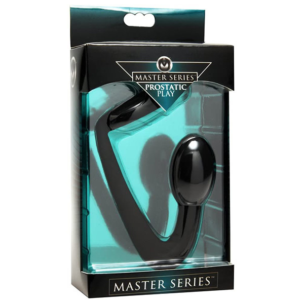 XR Brands Prostatic Play Explorer Silicone Cock Ring & Prostate Plug