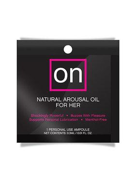 Sensuva ON Natural Arousal Oil For Her Foil Pack