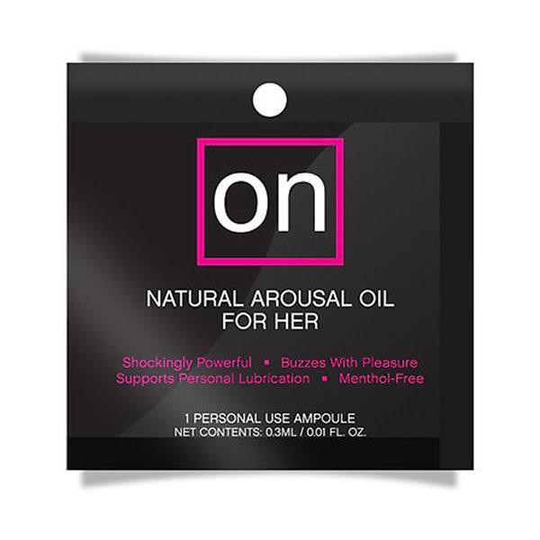 Sensuva ON Natural Arousal Oil For Her 0.01 oz (0.3 ml) Foil Pack