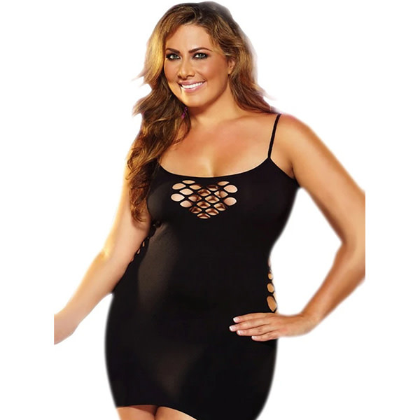 Lapdance Lingerie Bling Bling Cash Cage Black Mini Dress