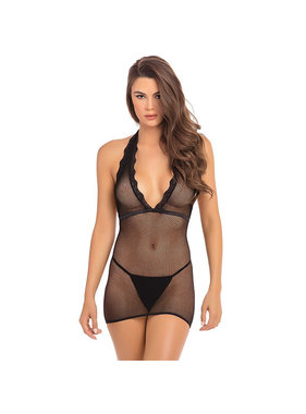 Rene Rofe Lingerie Take Me Fishnet Mini Dress