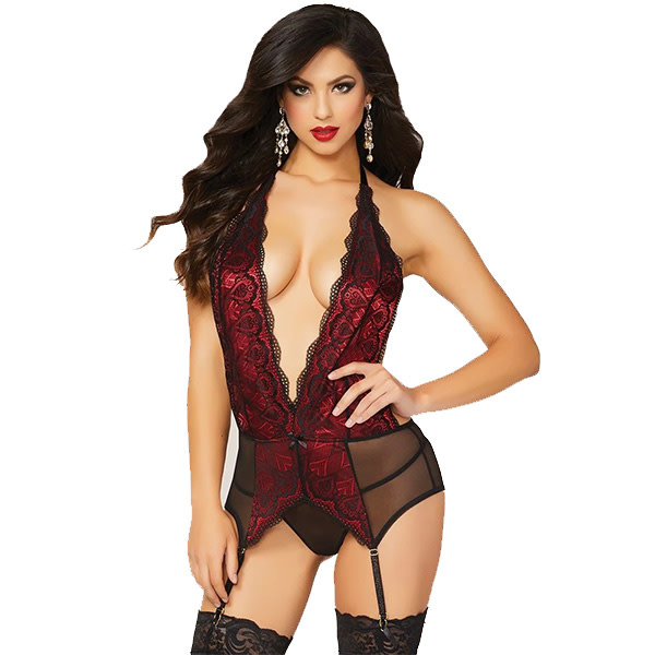 Seven Til Midnight Heart's on Fire Chemise Set