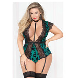 Seven Til Midnight Emerald Twilight Teddy with Harness