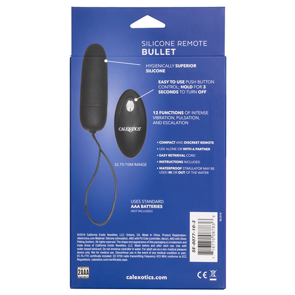 Cal Exotics Silicone Remote Bullet Vibe