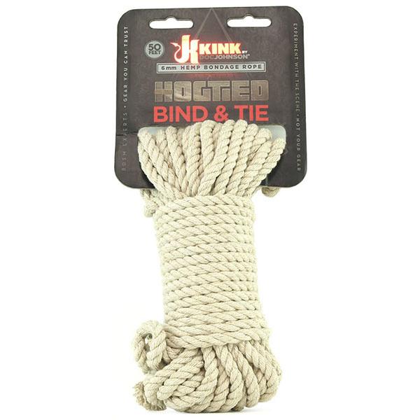 Doc Johnson Toys Kink Hogtied Bind & Tie Hemp Bondage Rope