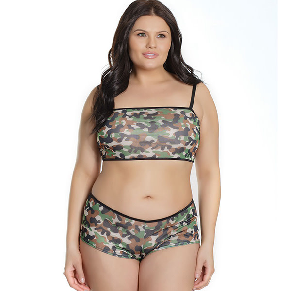 Coquette International Lingerie Army Girl Bralette & Booty Shorts