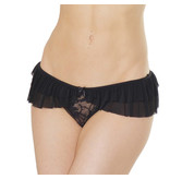 Coquette International Lingerie Ruffle Mesh Crotchless Panty