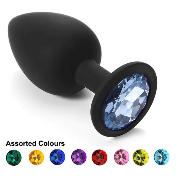 Premium Products Black Silicone Princess Plug (Assorted Colours)