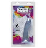 "Doc Johnson Toys Crystal Jellies 6.5"" Slim Dildo (Clear)"