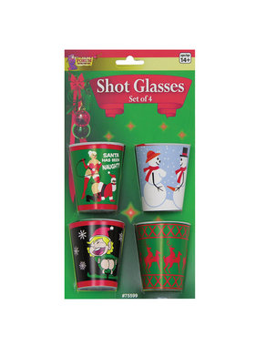 Forum Novelties Holiday X Rated Shot Glasses (Pack of 4)