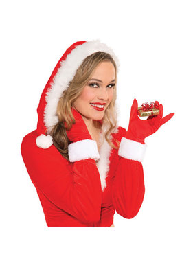 Forum Novelties Christmas Gloves with Faux Fur