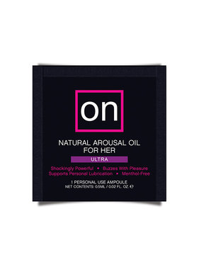 Sensuva ON Arousal Oil for Her: Ultra Foil Pack