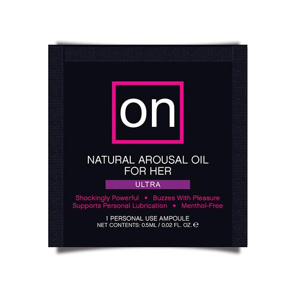 Sensuva ON Arousal Oil for Her: Ultra 0.02 oz (0.5 ml) Foil Pack
