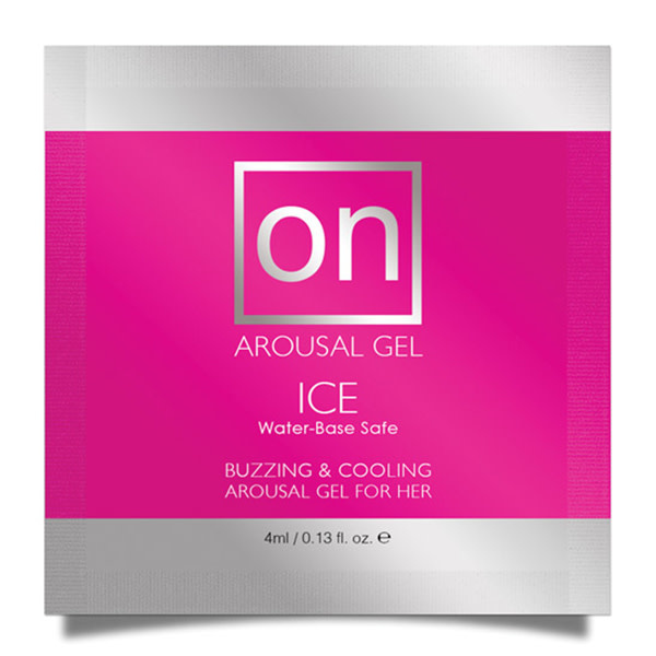 Sensuva ON Ice Female Arousal Gel 0.13 oz (4 ml) Foil Pack