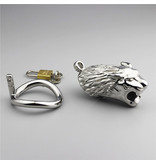 Premium Products Tiger's Head Stainless Steel Cock Cage