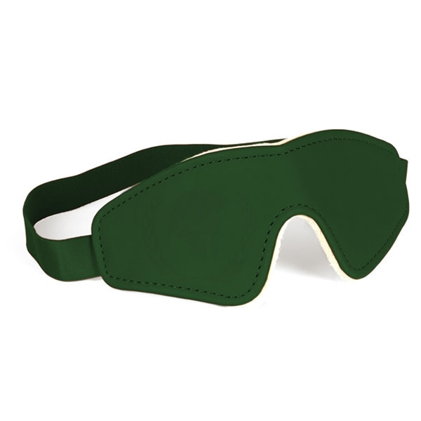 Spartacus Spartacus PU Blindfold w/Plush Lining (Green)