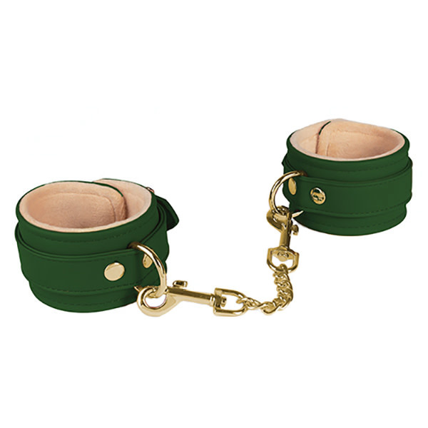Spartacus Spartacus PU Wrist Cuffs w/Plush Lining (Green)