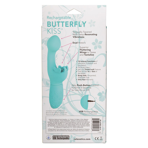 Cal Exotics Rechargeable Butterfly Kiss (Blue)
