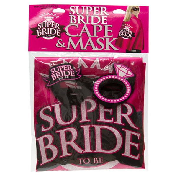 Little Genie Bachelorette Super Bride: Cape & Mask Set