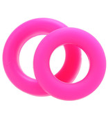 Pipedream Products Neon Stretchy Silicone Cock Ring Set (Pink)