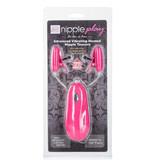 Cal Exotics Nipple Play Advanced Vibrating Heated Nipple Teasers (Pink)