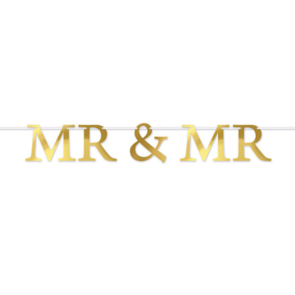 Beistle Company Mr & Mr Streamer (Gold)