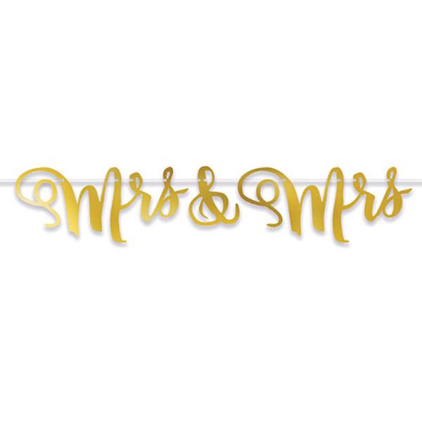 Beistle Company Mrs & Mrs Streamer (Gold)
