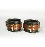 Aslan Leather Inc. Brass & Tan Wrist Cuffs