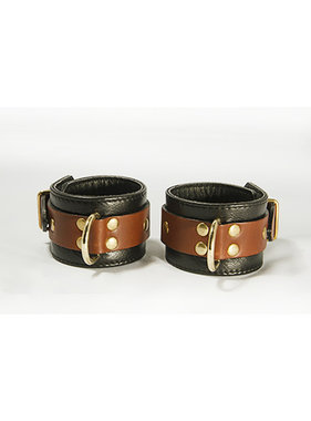 Aslan Leather Inc. Brass & Tan Wrist Cuffs