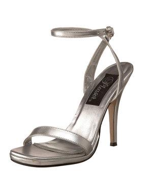 Pleaser USA HONEY-25 Single Sole Mid Heel (Silver)
