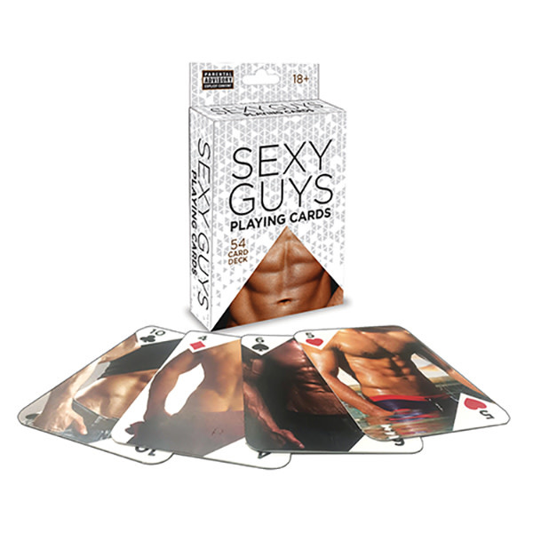 Little Genie Sexy Guys Playing Cards