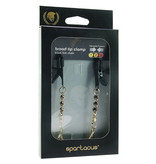 Spartacus Broad Tip Teardrop Pendant Nipple Clamps