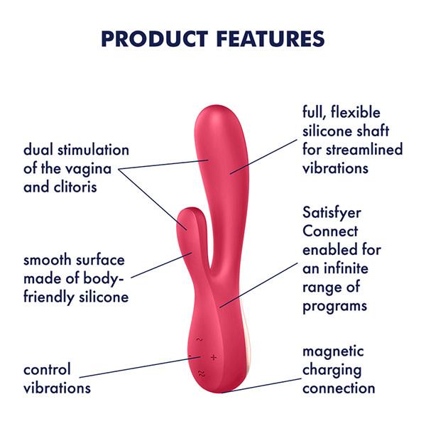 Satisfyer Satisfyer Mono Flex Rabbit Vibrator (Red)