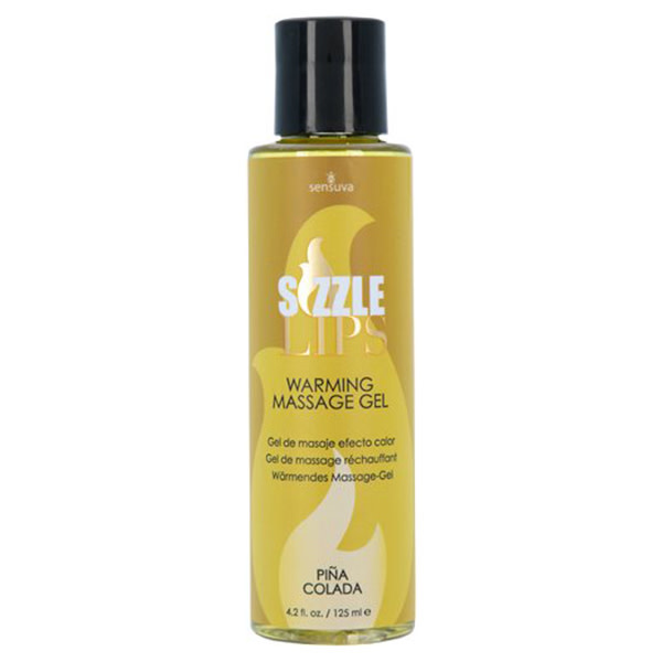 Sensuva Sizzle Lips: Warming Edible Massage Gel 4.2 oz (125 ml)