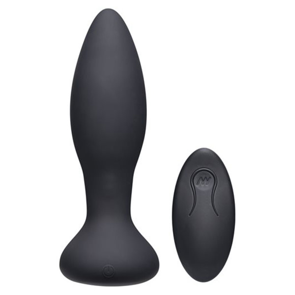 Doc Johnson Toys A-Play Vibe Silicone Vibrating Butt Plug with Remote (Black)