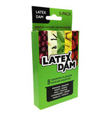 Latex Dental Dam: 5 Assorted Flavours Pack
