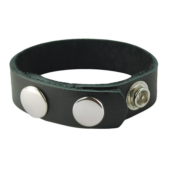 Spartacus Oiltan Leather Cock Ring (3 Snap)