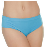 Coquette International Lingerie Stretch Knit Panty with Center Back Slashes (Blue)