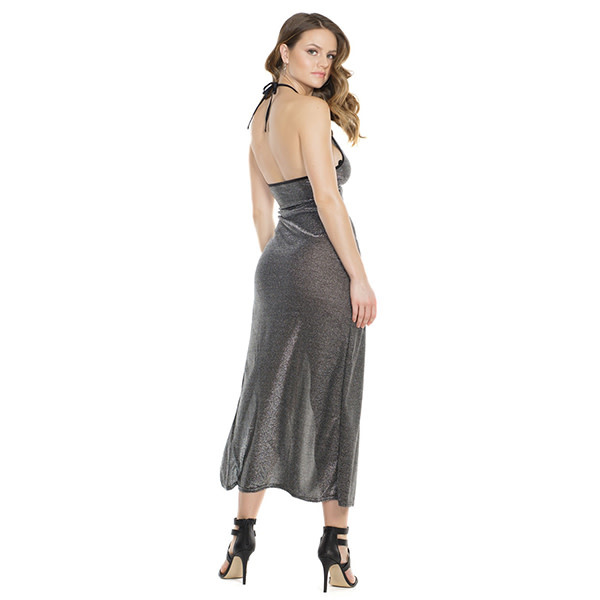Coquette International Lingerie Shimmer Knit Halter Neck Gown