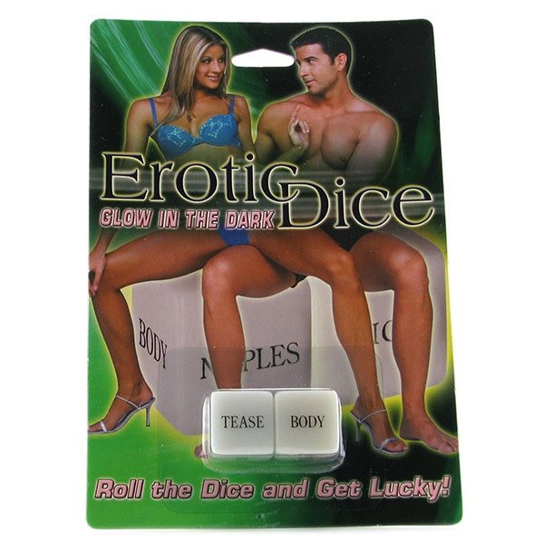 Pipedream Products Erotic Couple's Dice Glow in the Dark